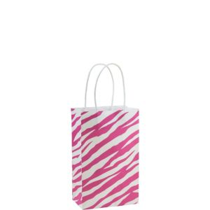 Pink Zebra Print Mini Gift Bag