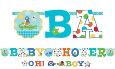 Ahoy Baby Boy Baby Shower Letter Banner Combo Pack 2pc