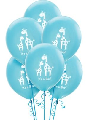 Baby Shower Balloons 15ct - Blue Safari