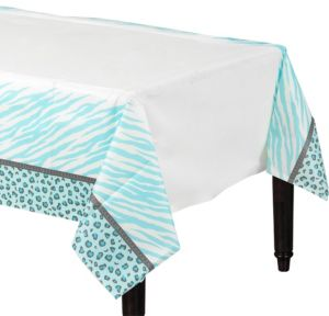 Blue Safari Baby Shower Table Cover