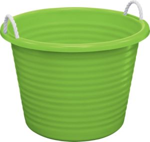 Kiwi Plastic Tub with Rope Handles