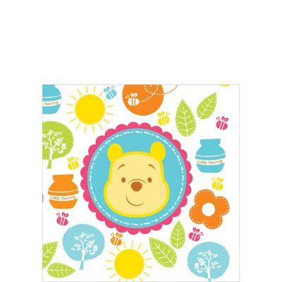 Winnie the Pooh Baby Shower Beverage Napkins 16ct