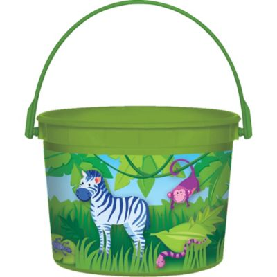 Jungle Animals Favor Container 4in