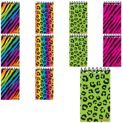 Zebra & Cheetah Notepads 48ct