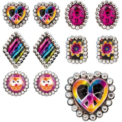 Hippie Chick Jewel Rings 48ct