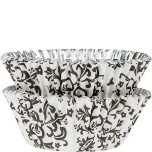Wilton Black Damask Foil Baking Cups 36ct