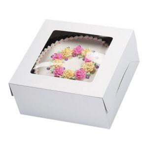 White Window Cake Box 14in x 14in