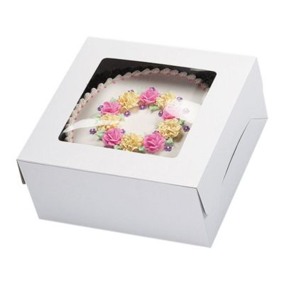 White Window Cake Box 14in x 14in