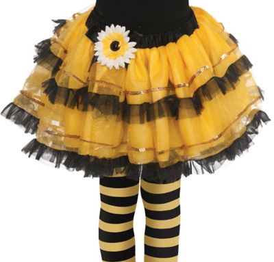Girls Bumblebee Fairy Tutu