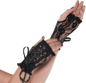 Lace-Up Goth Glovelettes