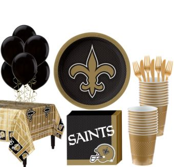 New Orleans Saints Super Party Kit for 18 Guests