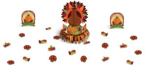 Thanksgiving Fringe Table Decorating Kit 23pc