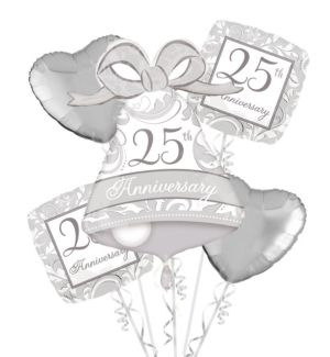 25th Anniversary Balloon Bouquet 5pc