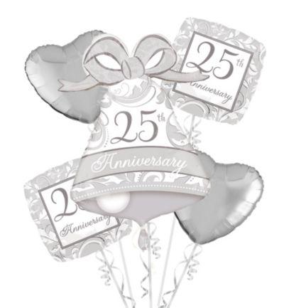 25th Anniversary Balloon Bouquet 5pc
