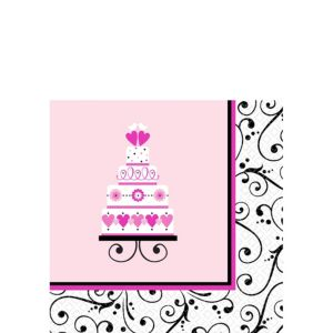 Sweet Wedding Beverage Napkins 36ct