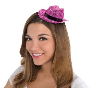 Pink Glitter Mini Cowboy Hat
