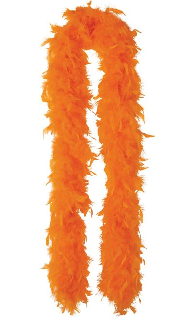 Orange Feather Boa 72in