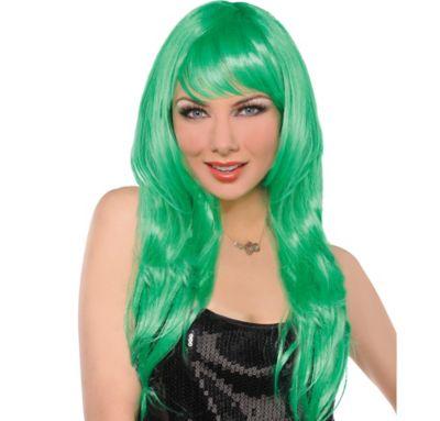 Glam Green Wig
