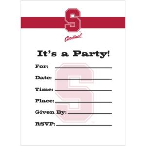 Stanford Cardinal Invitations 8ct