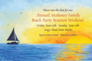 Custom Silhouette Sailboat Invitations