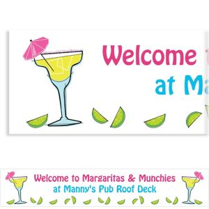 Custom Summertime Margarita Banner 6ft