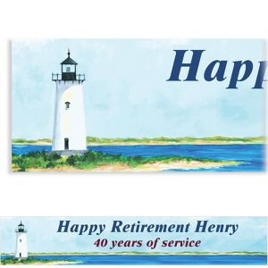 Custom Classic Lighthouse Banner 6ft