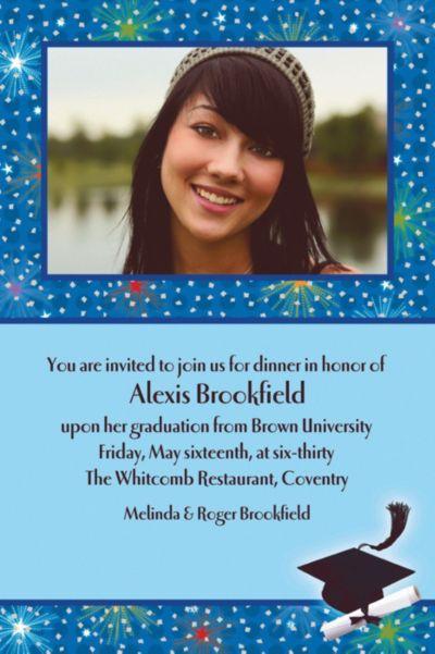 Dazzling Grad Custom Photo Invitation
