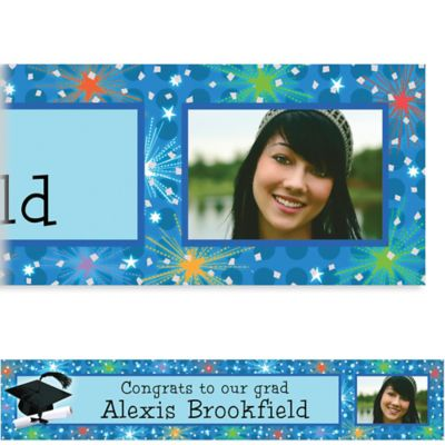 Dazzling Grad Custom Photo Banner