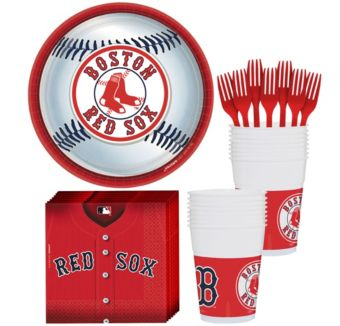 Boston Red Sox Basic Party Kit for 18 Guests