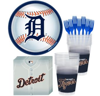 Detroit Tigers Basic Party Kit for 16 Guests