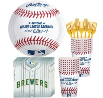 Milwaukee Brewers Basic Party Kit for 16 Guests