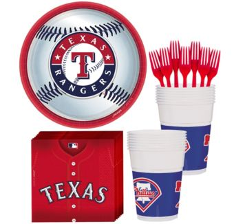 Texas Rangers Basic Party Kit for 16 Guests