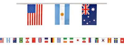 International Flag Pennant Banner 23ft