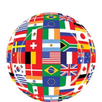 International Flag Dessert Plates 8ct