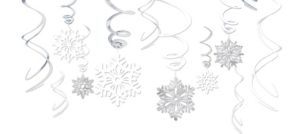 Snowflake Swirl Decorations 12ct