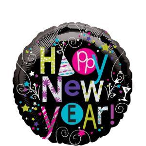Happy New Year Balloon - Playful