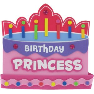 Pink Foam Birthday Princess Crown