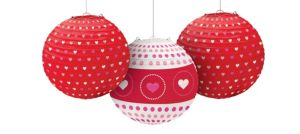 Valentine's Day Lanterns 3ct