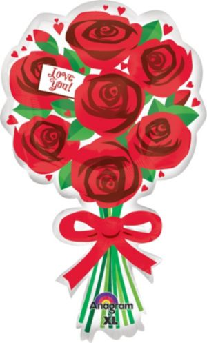 I Love You Balloon - Roses