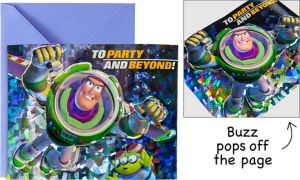 Premium Prismatic Buzz Lightyear Invitations 8ct - Toy Story