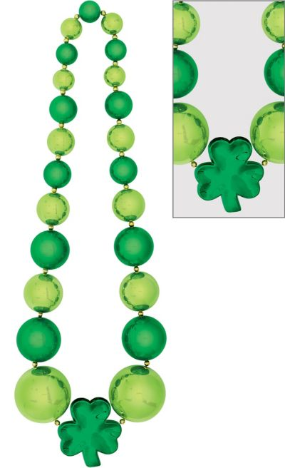 Giant Shamrock Bead Necklace