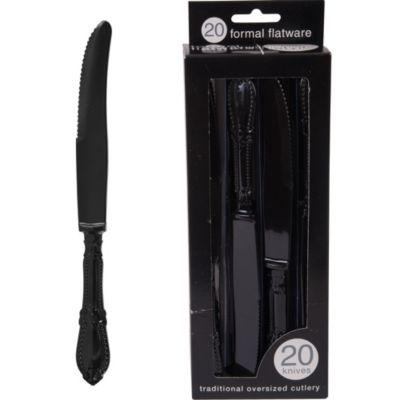 Formal Black Knives 20ct
