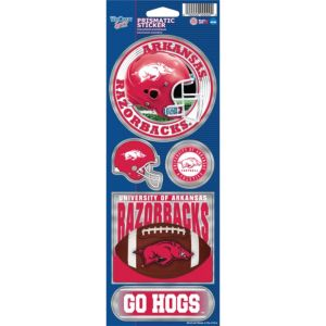 Arkansas Razorbacks Prism Stickers 1 Sheet