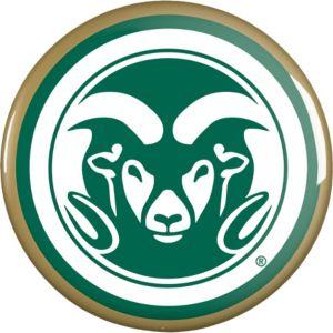Colorado State Rams Button