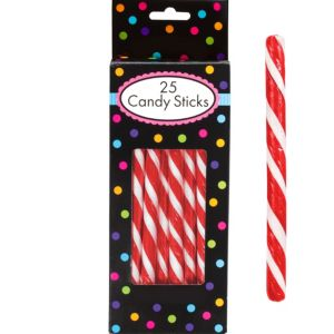 Red Candy Sticks 25pc