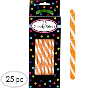 Orange Candy Sticks 25pc