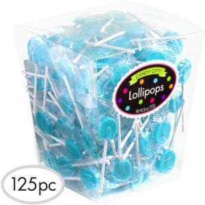 Caribbean Blue Lollipops 125pc