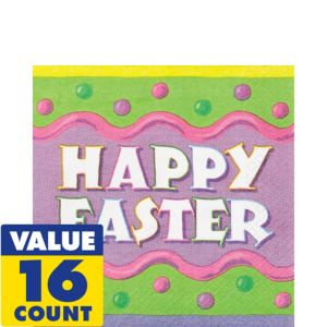 Happy Easter Lunch Napkins 16ct