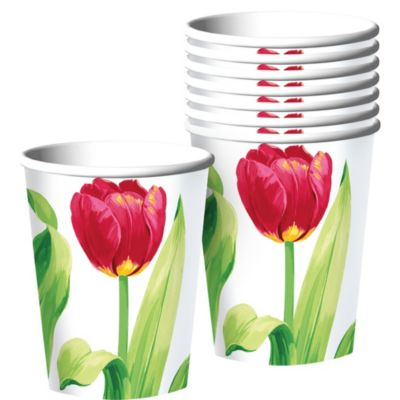 Spring Tulips Cups 8ct