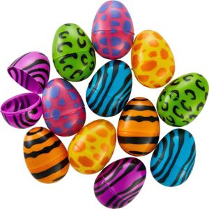 Animal Print Fillable Easter Eggs 12ct